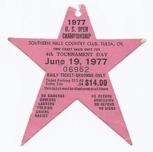1977 US Open Championship Ticket Stub 4th Tournament Round 6 19 77