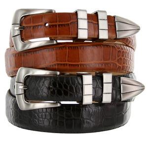 "California Italian Calfskin Leather Designer Dress Golf Belts Men's 1-1/8"" to 1"""