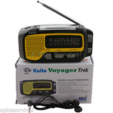 Kaito KA350 Voyager Trek Yellow Solar Crank Battery Survival Shortwave Radio