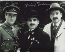Philip Jackson and Hugh Fraser Photo Signed In Person - Poirot - B464