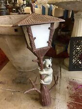 20th Century Props Mid Century Lamp Pole Top Koala Pot Metal Tree