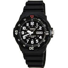 Casio Men's Watch Classic Diver Black Dial Resin Strap Dual Time MRW200H-1B