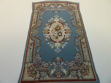 Dolls House Miniature 1:12th Scale Lounge Accessory Blue Victorian Rug