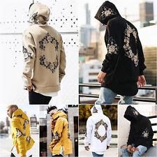 Hombre Sudadera Con Capucha Jersey Suéter Moderno Floral Chaqueta