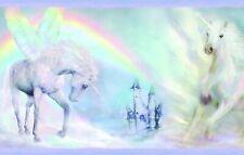 Unicorn Dreams Border Bbc46442B Tot46442B wallpaper blue Easy-Walls prepasted