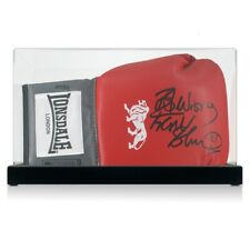 More details for frank bruno signed red boxing glove. in display case