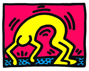 Untitled from Pop Shop II by Keith Haring A2+ High Quality Canvas Art Print
