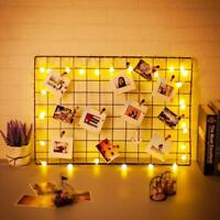 NEW Metal Mesh Grid Panel Photo Wall Decor Art Display Multi-Function 650mm UK