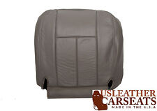 2003 Dodge Ram 2500 3500. Driver Side Bottom Replacement Leather Seat Cover Gray