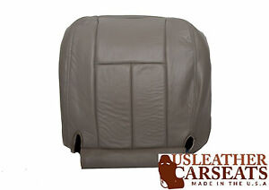 2003 Dodge Ram 1500 - Driver Side Bottom Replacement Leather Seat Cover Gray