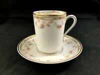 🟢 Theodore Haviland Limoges France Schleiger 346 Chocolate Cup & Saucer Set