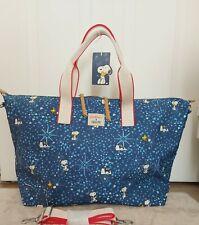 Cath Kidston Snoopy Midnight Stars Overnight Bag X Peanuts NEW