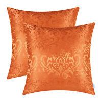 "2Pcs Pillow Cases Shells Cushion Covers Jacquard Florals Home Sofa Decor 18x18"""