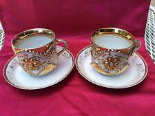 paire de tasses a chocolat en porcelaine fin 19eme