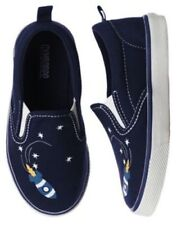 SZ 6 Gymboree Navy Blue Rocket Ship Canvas Loafers Slip On Boy Toddler New NWT