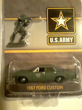 Greenlight:1967 Ford Custom  U.S.ARMY With Soilder Scale 1:64.