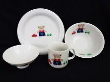 Friendship by Tamaki Bear Dish Set, Kids, 4 Pieces, Mug/Cup, Plate, Bowls