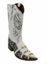 Men Genuine Leather Cowboy Boots With Design Style 6001