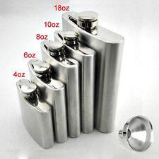 Stainless Steel Pocket Hip BOTTLE FLASK Liquor VODKA Whiskey Alcohol holderU ZY