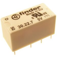 Finder 30.22.7.005 Dual-In-Line Relais 5V DC 2xUM 2A 125V AC Relay Print 069562