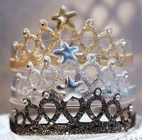 Girl Kid Child Baby Princess Birthday Party Star Crown Tiara Hair Headband Band
