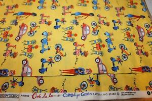 CAROLYN GAVIN 100% ORGANIC COTTON QUILT SEWING FABRIC 1 YARD OOH LA LA 51488