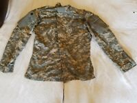ACU CAMOUFLAGE MILITARY MULTICAM ARMY COMBAT UNIFORM COAT MEDIUM REGULAR