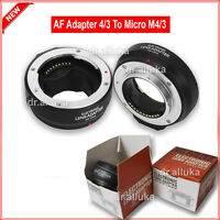 AF Four Thirds M43 lens to Olympus Micro 4/3 Adapter as DMW-MA1 MMF-1 MMF-2 MMF3