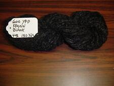 RAYON Chenille Yarn 600 YPP 1 Skein, 4 oz.150 Yards Color Black