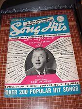 SONG HITS Magazine V6 #6 Nov 1942 DONALD DUCK WWII Propaganda BING CROSBY cover