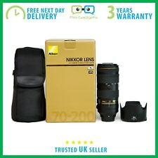 Nuovo di Zecca Nikon AF-S NIKKOR 70-200 mm f/2.8E Lens VR FL ED - 3 anni di garanzia