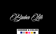"BARBER LIFE DECAL STICKER 14"" SCISSORS CLIPPERS FADE HAIR CUT"