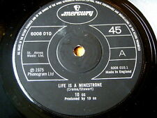 """10CC - LIFE IS A MINESTRONE  7"""" VINYL (PAPER LABELS)"""