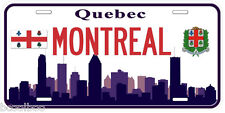 Montreal Quebec Canada Aluminum Novelty Car License Plate