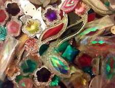 50 X Mixte Sew Sur Pierres de danse, Trim, GEM, cristal Dos Plat