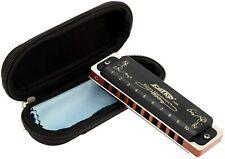 Easttop 10Hole Diatonic Blues Harmonica 12tones Black Professional Harmonica New