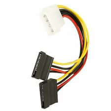 Molex to 2 X SATA Adapter 4 Pin to 15 Pin Power Cable Converter Y Splitter