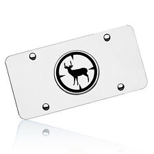 Deer Hunter Logo Chrome Stainless Steel License Vanity Plate