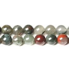 Bloodstone Round Beads 10mm Green/Red 35+ Pcs Gemstones Jewellery Making Crafts