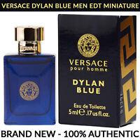 VERSACE Pour Homme Dylan Blue EDT Men's Cologne 0.17 oz / 5ml Miniature Bottle
