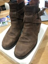Russell & Bromley Ladies Brown Nubuk Chuckie Ankle Boots Uk 5 Eu38