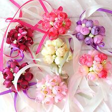 1pc Wrist Corsage Bracelet Bridesmaid Sisters Hand Flowers Wedding Party 7cm FT
