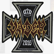 VADER - IRON CROSS - WOVEN PATCH - BRAND NEW - MUSIC BAND 2880