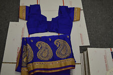 NEW Indian Designer synthetic Ethnic Traditional Saree-Border and Blouse FRESHIP