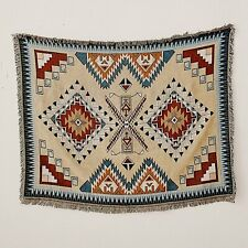 Large Reversible Navajo Indian Cotton Throw Aztec Bed Cover Blanket Picnic Rug