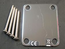 2002 Fender 50s 60s Classic Series Reissue Strat Tele Blank NECK PLATE + SCREWS