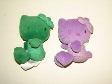 Sanrio Hello Kitty 35th Anniversary Color Plush Green Purple Lavender Doll 2009