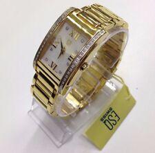ESQ MOVADO Kingston Gold Stainless Steel Swiss Quartz Watch Diamonds 07101257