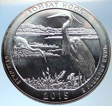 2015 UNITED STATES US Huge 7.6cm Silver Medal Coin BOMBAY HOOK DELAWARE i73701