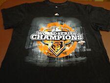 MLB San Francisco Giants 2012 World Series Champions T Shirt Black Medium  L2